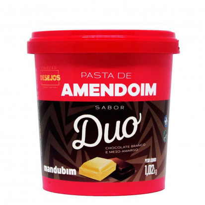 Pasta de Amendoim Chocolate Duo - Mandubim 1,02kg