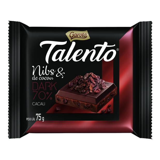 Chocolate Garoto Talento Sabor Nibs...