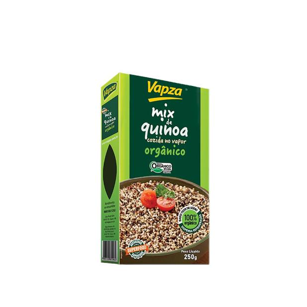 Quinoa Orgânico Cozida no Vapor - Vapza 250g
