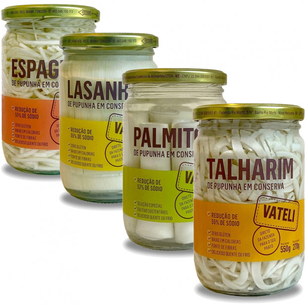 Kit Palmito Pupunha Em Conserva -...