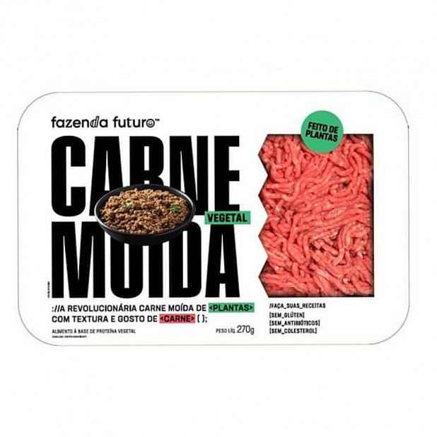 Carne Moída Vegetal - Fazenda Futuro...