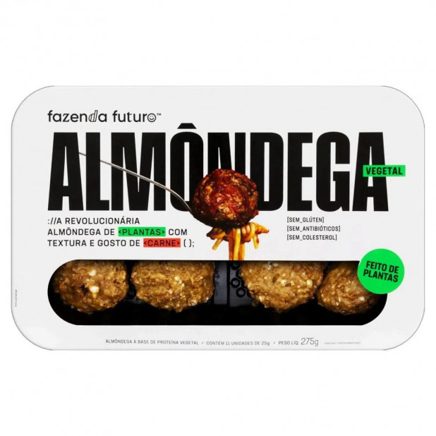 Almondega De Proteína Vegetal -...