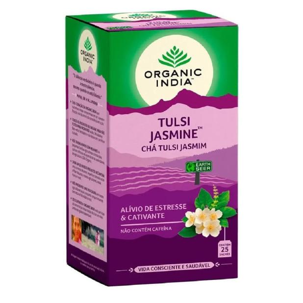 Chá Tulsi Jamine Organic India 25 Saches